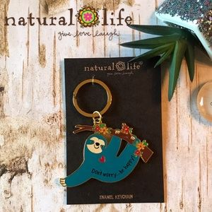 Natural Life Sloth Keychain